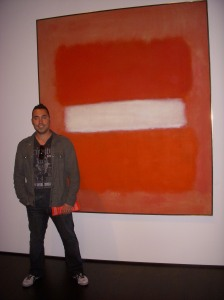 Me (Adrian Salamunovic) posing in front of a Mark Rothko painting at LACMA. Me happy.
